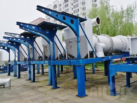 Aimix 20 Ton Drum Mix Asphalt Plant Was Exported to Ukraine
