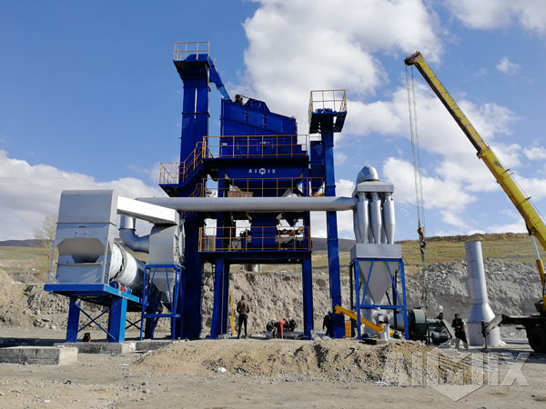 60TPH Asphalt Plant Was Finished Installation In Kyrgyzstan